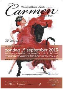 Poster carmen weekend opera utrecht videoregistratie TASK4 Studios
